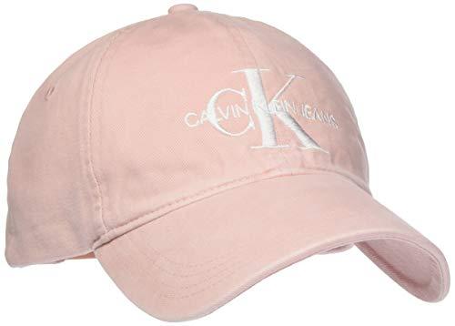 Calvin Klein Jeans Damen J Monogram Cap W Baseball Cap, per Pack Rosa (Strawberry Cream 636), One Size (Herstellergröße: OS)