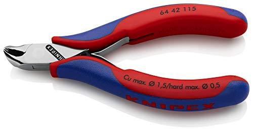 KNIPEX 64 42 115 Elektronik-Vornschneider mit Mehrkomponenten-Hüllen 115 mm -