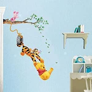 Tc1067 winnie l 39 ourson et amis des enfants autocollant mur for Stickers ourson chambre bebe