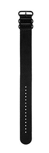Garmin Wechselarmband für fenix 3 - Schwarz, Nylon, Durchzugsarmband, Regular (Montieren Garmin Fenix)