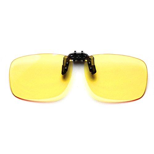 ilter (Clip on) Computer Brillen,UV Blockierung Anti Augenbelastung,Unisex Lesebrille (Large Size) ()