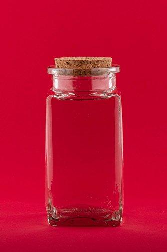 12 Stück 120 ml Glasbehälter Glasflasche mit Korken Verschluss rund 0,120 liter l leerer Vorratsdosen Vorratsgläser, Gewürzgläser Flaschen Gewürzdosen Bonbongläser Einmachglas Korkgläser Korkflaschen Korkdosen Viereckig Eingemachtes mit Kork-Verschluss Deckel Stopfen von slkfactory
