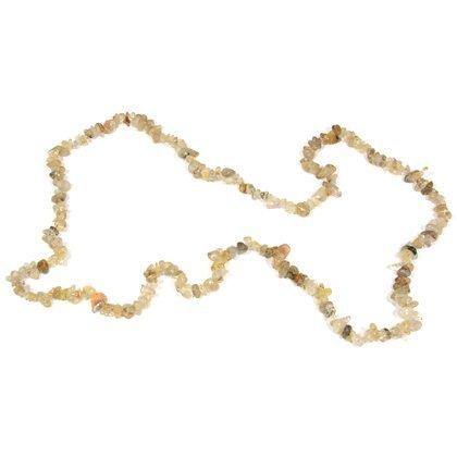 Crystalage rutilquarz gemstone chip necklace ~ 88,9cm