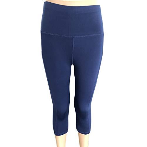 c1469187b2d1 JIANGfu Leggins Donna Sportivi Tinta Unita,Pantaloni Corti Moda Skinny Vita  Alta Pantaloncini Yoga Pantacollant