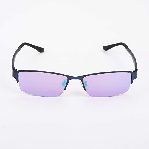Farb-Blink Korrekturgläser für Rot-Grün-Blindheit, mittlere starke Grad-Brille für Farb-Sehne-Störung, Farbschwäche, Unisex, 2 Typ-Rahmengläser zur Auswahl,HalfFrame