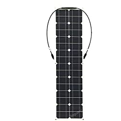 HYLMM Cargador Solar Panel Solar 50w Panel Solar fotovoltaico de Cristal único Sistema de casa RV para teléfonos Inteligentes Tabletas y Viajes de Camping