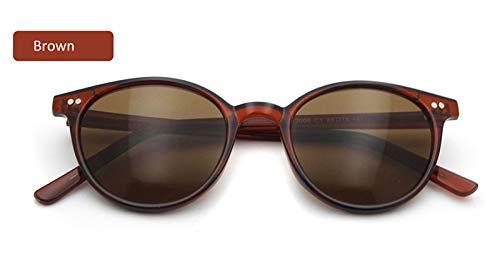 LKVNHP Vintage Runde Sonnenbrille Frauen Männer Markendesigner Gradient Sonnenbrille Weibliche Brillen Uv400 Fahrbrille Oculos De SolBrown