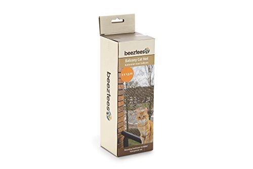 *Katzenschutznetz für Balkone Schutznetz für Katzen komplett, Transparent, Maschengröße 3 x 3 cm durchsichtiges Balkonnetz inkl. Befestigungsmaterial (2 x 1,5 m)*