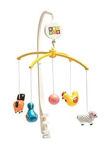 Mee Mee Musical Animal Cot Mobile (5-Toy Safari Theme)