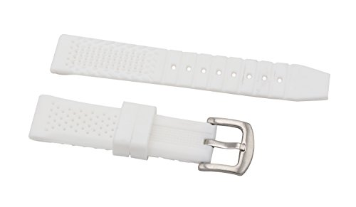 20mm dauerhaft weißen Gummisilikonuhrenarmband-Armbänder mit Edelstahldornschließe gerade Ende