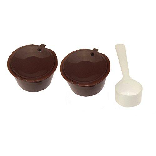 Nachfüllbar Kaffeekapseln für Nescafe Dolce Gusto, wiederverwendbarer Kapsel-Filter in Cafilas
