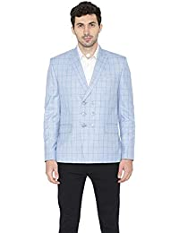 Wintage Men's Polyester Cotton Double Breasted Smart Casual Blazer : 2 Colors