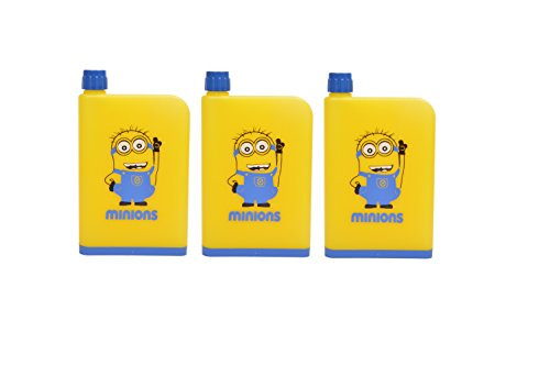 Laxmi Collection Pack Of 6 Minions Notebook Shape Water Bottle For Kids Return