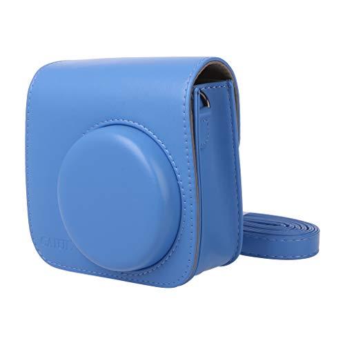 Logres. Kameratasche für Fujifilm Polaroid Mini 8/8+/9 Instax, PU-Leder, Navy