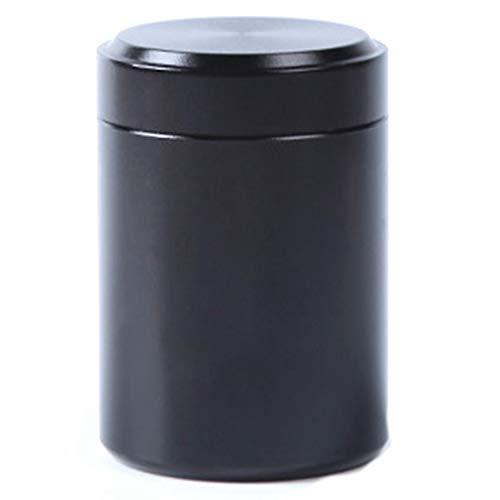 zhongjiany 80 ml Tee, Kaffee und Zucker Vorratsdose Aluminium Mini Vorratsdose für Reisen Outdoor Tragbar Schwarz