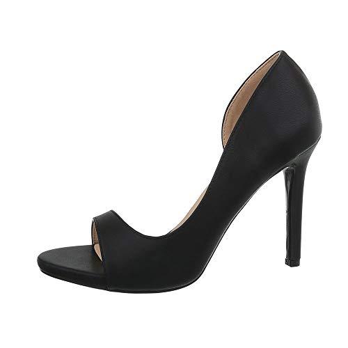 Ital-Design Damenschuhe Pumps High Heel Pumps Synthetik Schwarz Gr. 40 -