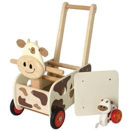 Chariot de marche trieur 2 en 1 - Vache