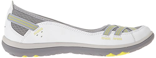 Clarks Aria Pump Cuir Chaussure Plate white