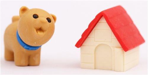 brauner Hund mit roter Hundehütte Radiergummi von Iwako (Iwako Alle Radiergummis)