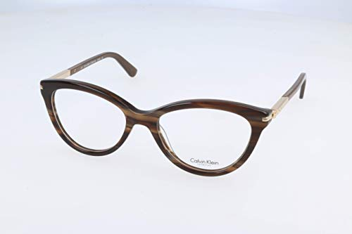 Calvin Klein Damen Brillengestelle, Brown, 50