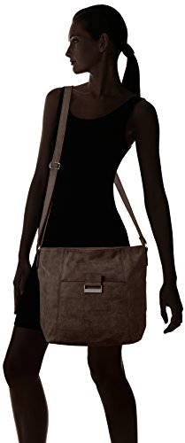 GERRY WEBER - Be Different Shoulder Bag V, L, Borse a Tracolla Donna Marrone (Braun (mauve 305))