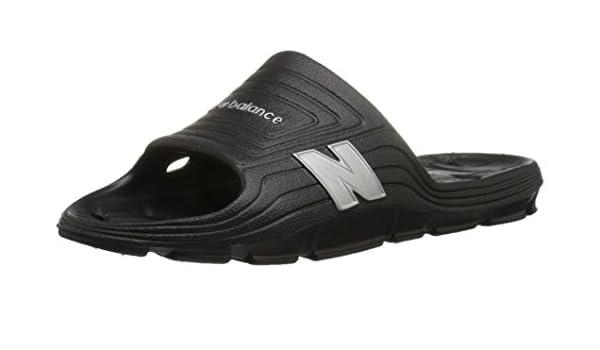 9c547baa7e9f9 new balance Men's Float Slide, Black/Silver, 9 D US: Buy Online at ...