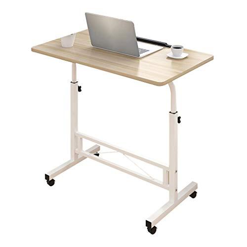 Rechteck höhenverstellbar Laptop Tray herausnehmbare Computer Stand Liftable Bracket Notebook Tisch MDF Material Schreibtisch für Sofa/Schlafzimmer/Overbed (Ahorn Kirsche Holz) -