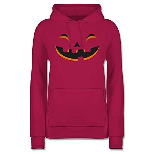 Shirtracer Halloween - Kürbisgesicht Kostüm - L - Fuchsia - JH001F - Damen ()