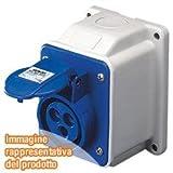 Gewiss GW62401 - Toma de corriente (2P+T, IP44, 4 h, 110 V, 16 A, 50 - 60 Hz) Amarillo
