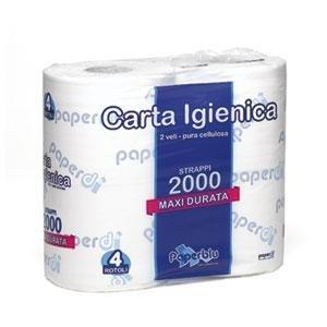 Toilettenpapier, 10Stück 4Stück 500Blatt reine Zellulose Watte Doppelgardine–60MT CAD
