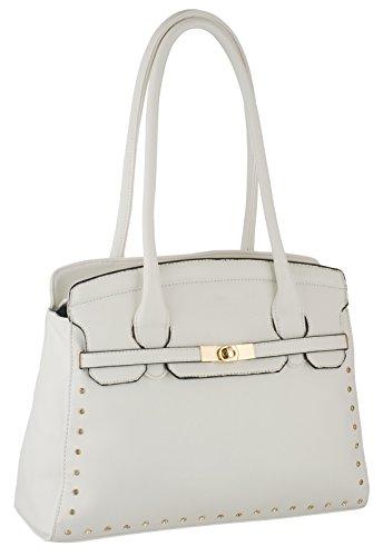 Eyecatch - Bexley Leder Frauen Handtaschen White