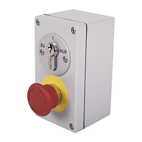 Schlüsselschalter aufputz mit NOT-AUS Pilzknopf AP2-2T/S Notstopp Schalter