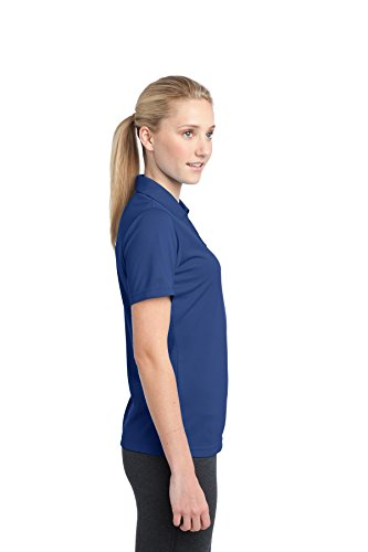 sport-tek lst680 Damen posicharge Micromesh Polo Blau - True Royal