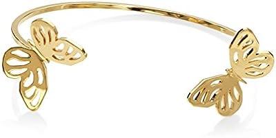 Lara Bohinc Mujer 18ct amarillo chapado en oro plata de ley mariposa abierta Cuff