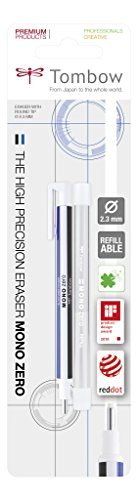 Tombow EHR-KUR Mono Zero - Gomma di precisione con ricarica, a penna, punta tonda, diametro 2,3 mm, colore: