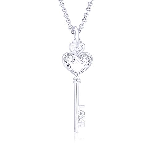Peora Sterling-Silver Pendant  For Women Silver-PP3018