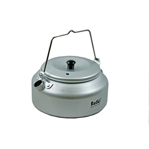 Retki Cafe Kettle leichter Aluminium Wasserkessel, Wasserkocher für Camping, Zelten, Wandern,...