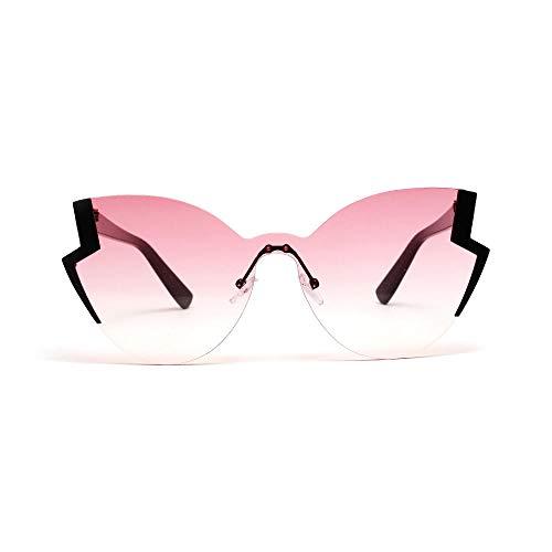 Drreny Retro Big Frame Brille Schmetterling Typ Cat Eye Sonnenbrille Schmetterling Big Box Damen Sonnenbrille Pink