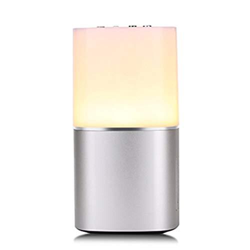 QAR Drahtloser Bluetooth-Lautsprecher Buntes warmes Licht LED Nachtlicht Touch Mini Live Subwoofer Sound Musik Rhythmus Umgebungslicht Audio