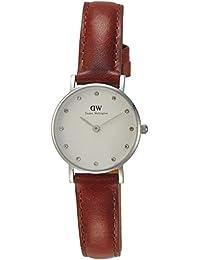 Daniel Wellington 0920DW - Reloj con correa de cuero para mujer, color blanco / marrón