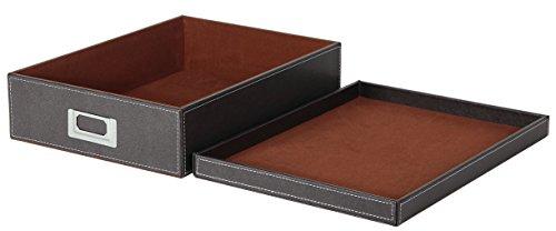 osco-a4-faux-leather-box-brown