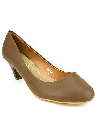 Cendriyon, Escarpin Marron Grande Pointure ELEONORE Chaussures Femme Marron