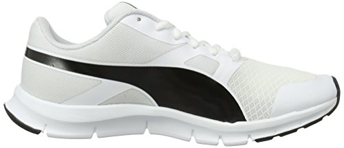 Puma Unisex-Erwachsene Flexracer Low-Top Weiß (Puma White-Puma Black 21)