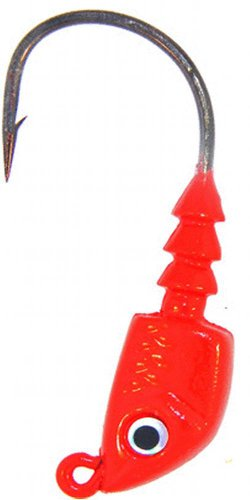 Assassino Bass Lures Bass Assassins Piombo / Red Eye 1/4-Ounce Jighead Lure-confezione da 4, occhi rossi, misura