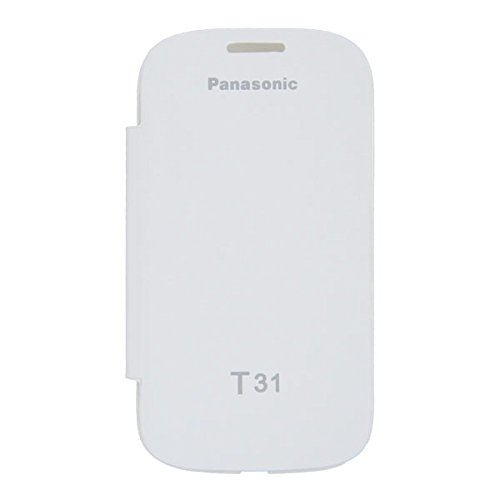 Acm Flip Case For Panasonic T31 Mobile Front & Back Flap Folio Cover-White  available at amazon for Rs.329