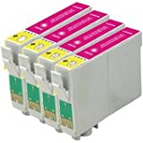 King Of Flash Epson Compatible T1293 4 x T1293 - Magenta Ink Cartridge for Epson Stylus Office Printers