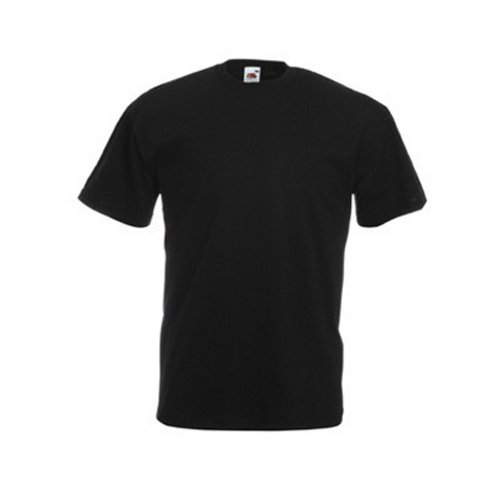 Fruit Of The Loom - Camiseta Básica de manga corta modelo VALUEWEIGHT - Hombres (Extra Grande (XL)/Negro)