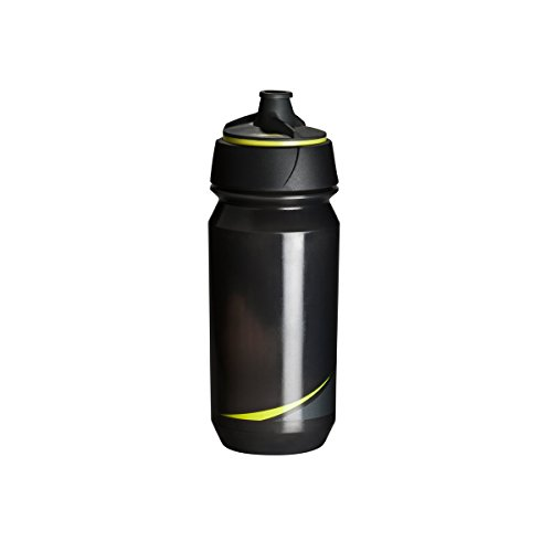 Tacx Trinkflasche Shanti Twist 500 ml mit Membranverschluß Colour, Blau Smoke/Leuchtgelb