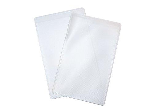 smartec24® 2x EC-Karten Schutzhülle transparent Ultra Slim. Geeignet für alle Arten von Bankkarten, Kreditkarten, Versicherungskarten etc.