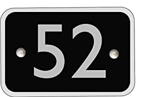 Modern contemporary acrylic black rectangle house number - 1 to 999 available